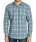 ~NEW~MENS QUIKSILVER biscay PLAID LONG SLEEVE BUTTON UP SHIRT BLUESTONE XX-LARGE