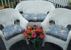 WICKER CUSHION 3 PC SET -- TOMMY BAHAMA FABRIC -- CHOOSE FLORAL / PRINT