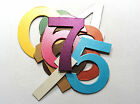 "3"" Shimmer Chipboard Wedding Table Numbers 1-12, 1-15, 1-50  stickers 10+ colors"