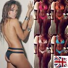 *UK* Sexy Bandage Bikini Set Triangle Bra Swimsuit Swimwear Beachwear Mesh