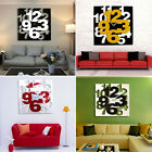Large DIY Wall Clock 3D Mirror Surface Sticker Home Office Decor Special