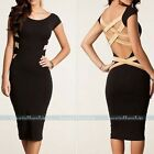 Hot Sexy Women's Slim Bodycon Bandage Dress Short Sleeve Party Cocktail Evening