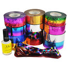 Nail Art Transfer Foil Galaxy Paper Tip Decor Star Sky Design Star Glue Set