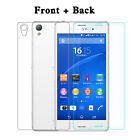 Front & Back Tempered Glass Film Guard Screen Protector For Sony Xperia Z3 L55