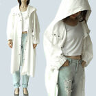 c16 Soft natural cotton big over sized style hooded trench coat S to L