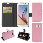 Magnetic Card Holder PU Leather Wallet Stand Case Cover For Samsung Galaxy S6 R1