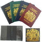 UK Passport Holder Cover Protection CLEAR PKT Slim Cover Protector Travel Cases