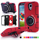 Samsung Galaxy S4 Heavy Duty Shockproof Defender Case w/ Rotating Belt Clip