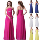 UK New Long Bridesmaid Dress Formal Evening Prom Ball Gown Masquerade Graduation