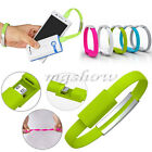 Micro 2.0 USB Data Sync Charger Cable Band Cord Wrist Bracelet For Mobile Phone