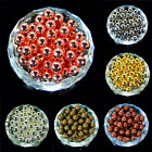 Silver Gold Pewter Gunmetal Plated Round Spacer Beads Crafts Findings