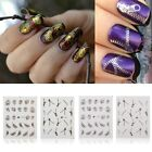 28x 3D Decal Stickers Nail Art Tip Stamping Manicure DIY Decoration Fashion