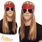 Axl Rose Wig 90s Rocker Kit Mens Fancy Dress Costume Accessory New