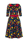 KAWAII KITTY RETRO VINTAGE DRESS FROM VOODOO VIXEN 6 8 10 12 NEW ALTERNATIVE