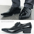 Mens Shoes Pointed Toe Black Patent Leather Oxfords Handmade 2712, GENTLERSHOP