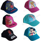 CHILDRENS KIDS CHARACTER BASEBALL CAP SUMMER HAT ACCESSORY