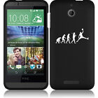 For HTC Desire 510 Rubber Hard Snap On 2 Piece Case Cover Evolution Basketball