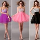 SWEET~Short Beaded Corset Bridesmaid Gown Evening Prom Party Grad Formal Dresses
