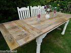 Large Rustic OAK Country Farmhouse Kitchen Dining Table EXTENDING 8ft Painted