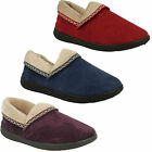 PADDERS LADIES MELLOW WIDE FITTING EE MICRO SUEDE SLIPPERS WITH MEMORY FOAM