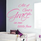 ALL OF GODS GRACE wall quote bedroom nursery vinyl wall decal