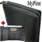 1 Wallet with Wrap around ziper + 1 Key case With 2 Note compartments Leather