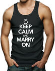 Keep Calm And Marry On - Wedding Marriage Men's Tank Top T-shirt