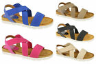 LADIES SYNTHETIC STRAPPY CASUAL SANDAL (DOWN TO EARTH F10323