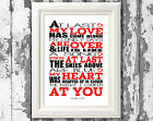 Etta James At Last Song Lyric Poster Art Typography Wall Art Designs