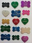PET TAGS ID CUSTOM BONE TAGS SINGLE SIDED DIAMOND ENGRAVED DOG CAT NAME CHARM