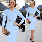 New Celeb Ladies Bodycon Office Fitted Pencil Cocktail Evening Party Dress Size~
