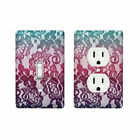 Mint Lace Design Decor Home Room Light Switch Wall Face Plate Cover