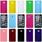 For Microsoft Lumia 640 LTE/640 XL Rubberized Matte Snap-On Hard Back Case Cover