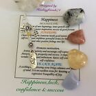 Luck Happiness Success Confidence & New start Crystals Gemstones Chakra Gift Set