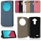 Luxury PU Leather Window-View Flip Stand Case Cover Skin for LG G4