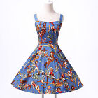 Ladies 1940's 50's style Floral Rockabilly Pinup Swing Prom Evening Party Dress