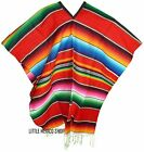 SERAPE Mexican Poncho - ALL COLORS - ONE SIZE FITS ALL - Blanket SARAPE Gaban