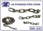 5MM Marine Grade Stainless steel Chain A4 GRADE 316 Anti Corrosion A4 CHAIN