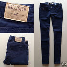 Hollister by Abercrombie Women/Girls Skinny Low Rise Pants Chinos Navy Sz 0 W 24