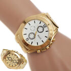 Stainless Steel Sport Quartz Wrist Hour Gold Bracelet Big Dial Watch Cheap