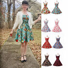 SUMMER CHEAP    50'S ROCKABILLY Vintage Style Swing Pinup Party Housewife Dress