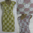 NEW EX BODEN SUMMER TUNIC TEA SUN DRESS WILLOW MUSTARD GREY PURPLE SIZE 8 - 18