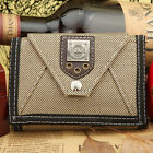 Sports Canvas Clutch Checkbook Cool Rivet Change Coin Card Bag Men Purse Wallet