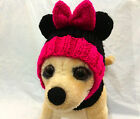 Pet Clothes Apparel Handmade Outfit Minnie Mouse Hat for Small Dog