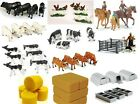 Britains Farmyard 1:32 scale Age 3+ Toy Cows Chickens, Bales Troughs, New Boxed
