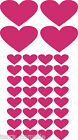 36 LOVE HEART STICKERS Any Colour Car / Wall Stickers Decals Graphics
