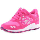 Asics Gel-Lyte III Womens Suede & Textile Pink White Trainers New Shoes