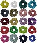 Metallic Sequin Hair Scrunchies Many Colors 3 Size Mini Stand Jumbo Made in USA