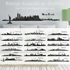 Skyline Wandaufkleber Wandtattoo New York Paris Rom Barcelona Istanbul London