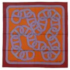 NEW Authentic Hermes Silk Scarf CIRCUIT 24 FAUBOURG Orange Red
